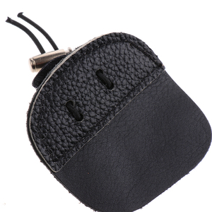 Image 4 - חיצוני חץ וקשת אצבע כרטיסיות 3 תחת Tab אצבע שומר להגן על משמר חץ וקשת אצבע Tab עור פרה מתכוונן אלסטי רצועה