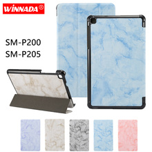 Tablet case for Samsung galaxy Tab A 8 2019 P200 P205 (8 inch) marble grain capa coque cover for Samsung galaxy SM-P200 SM-P205