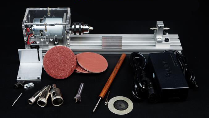 Mini Lathe Beads Machine Polisher Table Saw Mini DIY Wood Lathe Cutter with Adapter цены