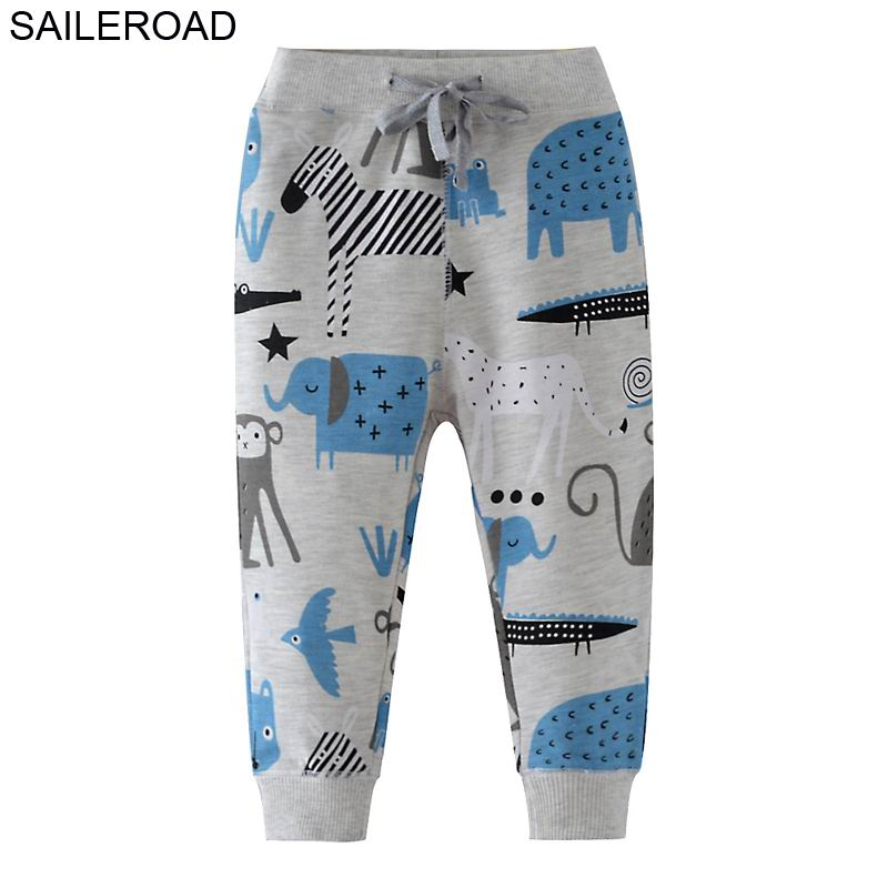 SAILEROAD 2-7Years Baby Boys Sport Pants for Cotton Children Kids Casual Pants Cartoon Toddler Loose Trousers Wear Girls Clothes