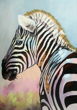 Buy zebra oil painting canvas and get free shipping on aliexpress bewehi hand painted oil painting on canvas abstract animal altavistaventures Images