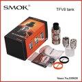 Оригинал Smok TFV8 6 мл Большой Емкости с 4 Уникальная Запатентованная Турбо Двигатели Топ-заполнения Управления Регулируемый Поток Воздуха Танк