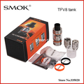 Original Smok TFV8 6 ml Grande Capacidade com 4 Motores Patenteado Original Turbo Top-Tanque Fluxo de Ar Ajustável Controle de enchimento
