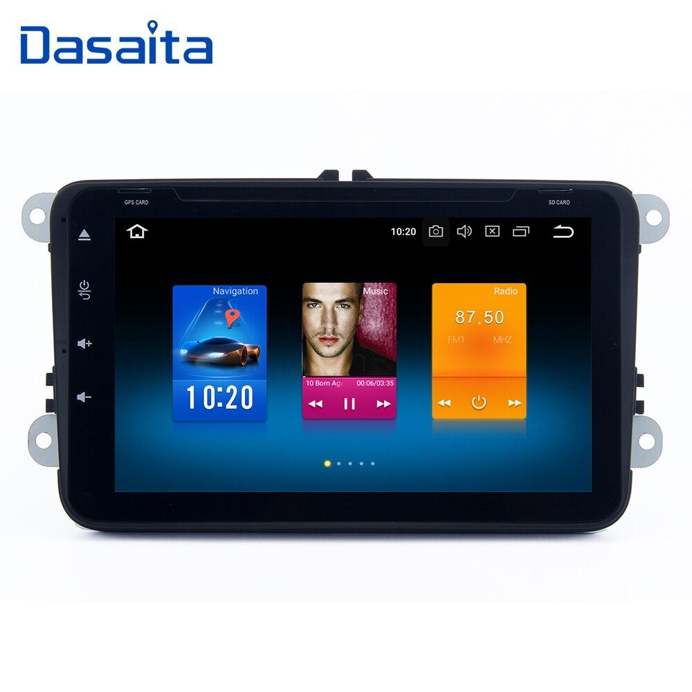Dasaita 8 IPS 2din Car NO DVD Player Android 9 0 for VW Passat Golf 5