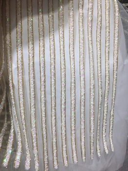 stock 5yards qq021 # glued glitter net tulle mesh sugar lace for fashion designer/ wedding dress