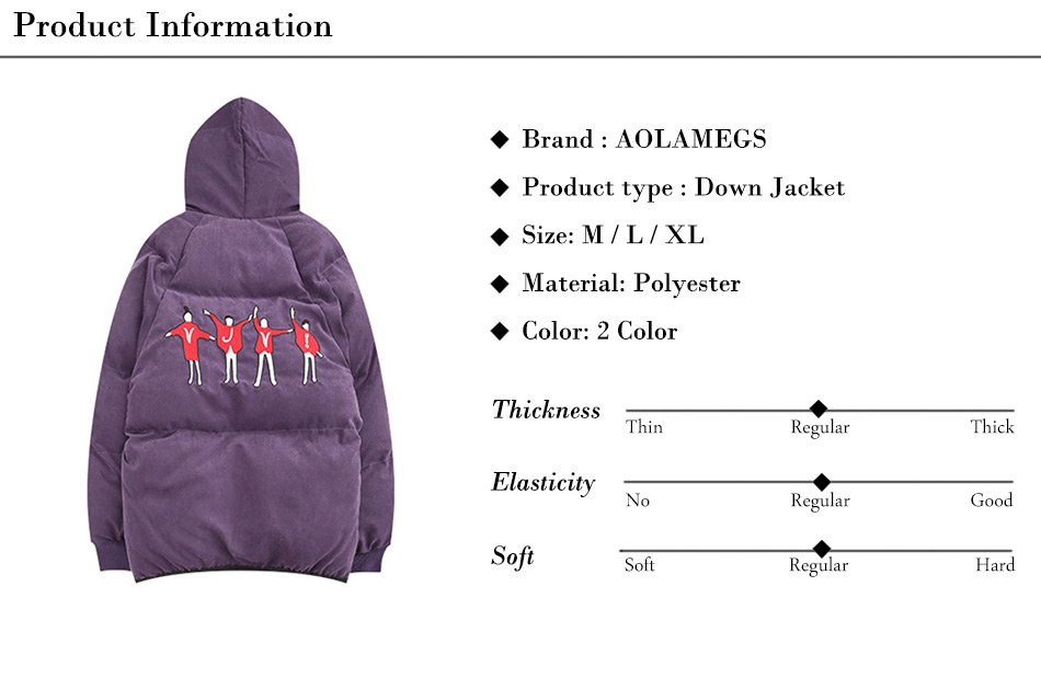 Aolamegs Embroidery Down Jacket Men Puffer Jacket Hooded Thick Winter Jacket Men Warm Parkas Fashion Casual Windproof Coat Mens (13)