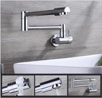Free Shipping Single Lever Foldable Single Cold Kitchen Faucet Wall Mounted Sink Faucet Brief Water Tap
