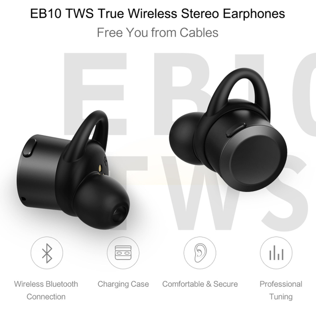 Bluetooth 4.1 Stereo Earphones with Charger Box Portable Bluetooth Earphone EB10 TWS True Wireless Earbuds