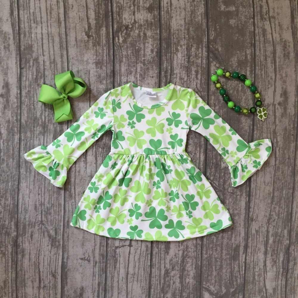 baby girls St Patrick outfits girls Shamrock dress clothing children St  Patrick day dress girls party 0f2ea537ed78