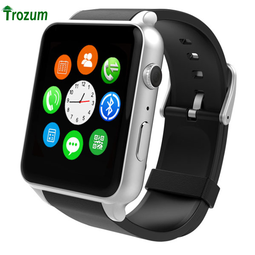 TROZUM  Heart Rate Monitor Bluetooth Smart watch GT88 Smartwatch Support SIM Card For IOS Android System Smartphone Relogios