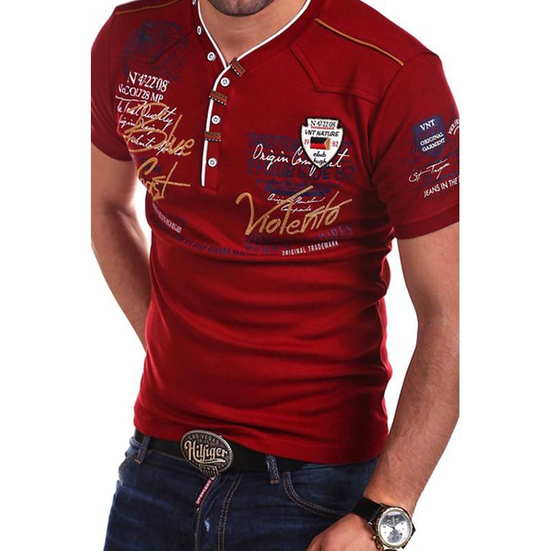 Zogaa 2019 New Summer Men   Polo   Shirt Guys Boys Cotton Short Sleeve   Polo   Shirt Male Solid Printed Slim Casual Short   Polo   Shirt
