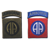 30 PCS Embroidered US Army 101st Airborne Division Hook & Loop Badge Emblem Military Morale Badges Wholesale