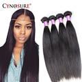 7a cynosure cabelo procucts brasileiro do cabelo virgem reta 3 pcs 100% extensão do cabelo humano macia e vibrante cabelo liso brasileira
