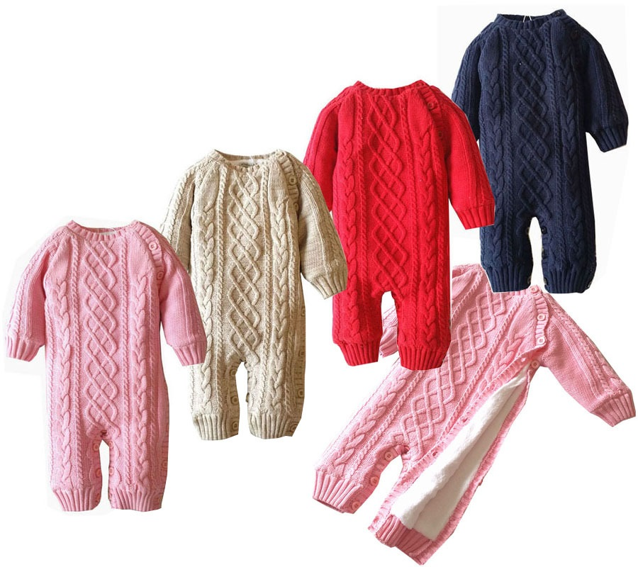 Winter Plus Velvet Baby Rompers 100% Cotton Warm Newborn Baby Clothes New Born Baby Girl Romper Infant Boys Outfit baby romper girl rompers christmas baby clothes newborn christmas baby gift new born cotton baby christmas clothes 1pcs lot a mc