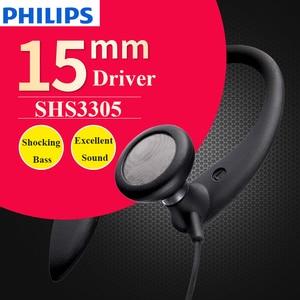 Image 4 - 100% Original PHILIPS SHS3305  earphone  headsets  ear Hanging  Type Headphones Sports Support smartphones  For Samsung Xiaomi