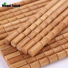Визуальные сенсорные натуральные бамбуковые палочки для еды, японские палочки для еды, детские палочки для суши, Детские китайские подарочные многоразовые палочки для еды