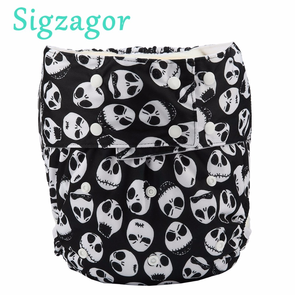 Sigzagor 10 Teen Adult Cloth Diapers Nappies Pocket Incontinence Waterproof Reusable Gussets Insert ABDL Age