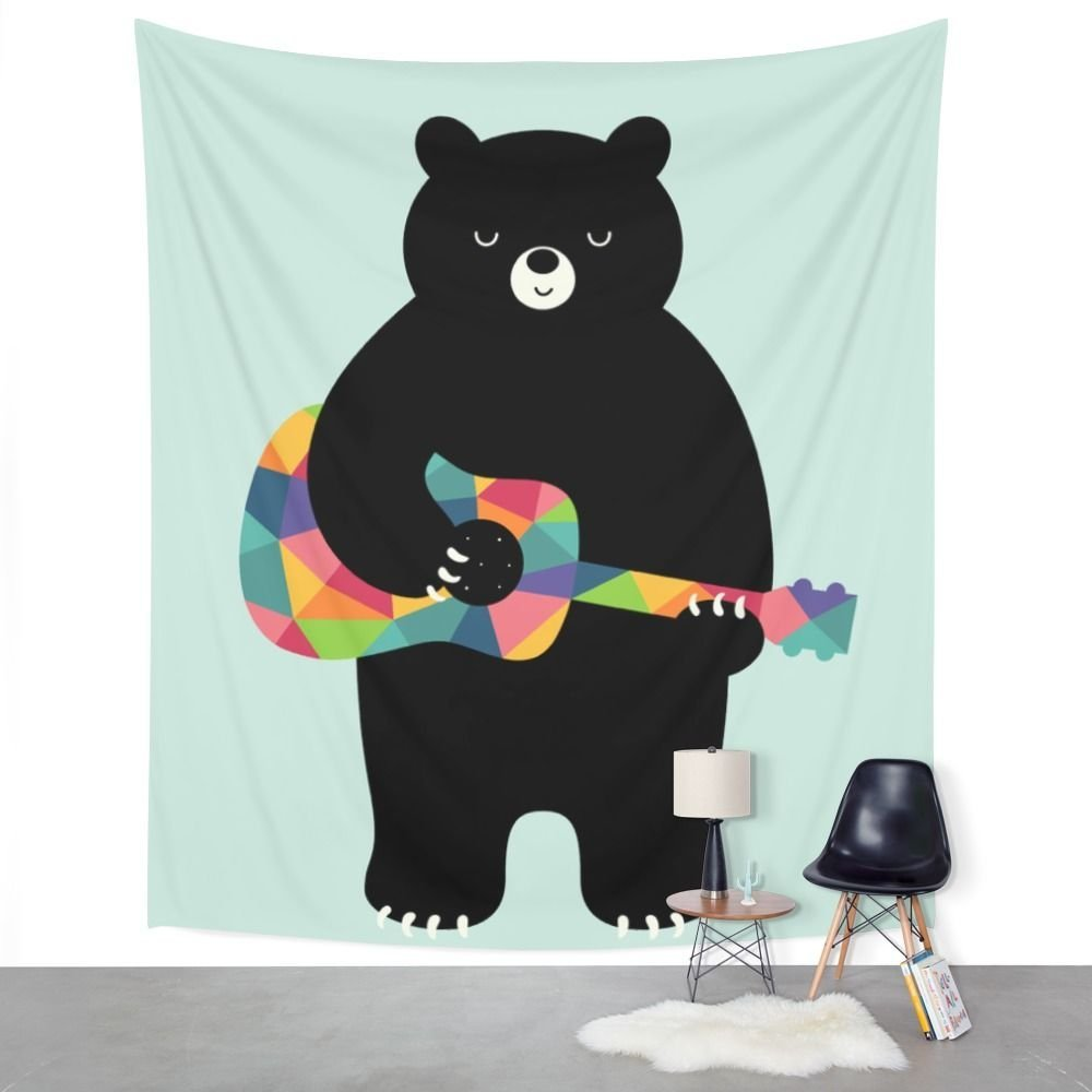 Happy Song Wall Tapestry Beach Towel Polyester Blanket Yoga Shawl Mat