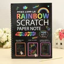 Funny Scratch Children Painting Notebook DIY Drawing Toy Big Blow Painting Children Educational Toys With Wooden