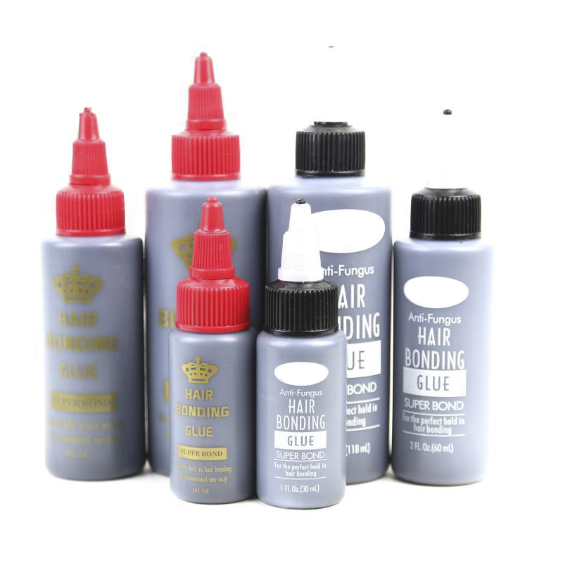 1 Bottle 1/2/4oz Hair Bonding Glue Super Bonding Liquid Glue for Weaving Weft Wig Hair Extensions Professional Salon Hair Tools