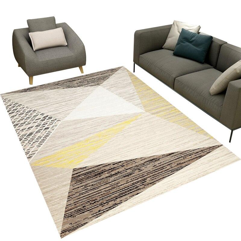 Moderne géométrique Art court en peluche tissu tapis de haute qualité élastique anti-dérapant tapis en plein air prière salon maison tapis de sol