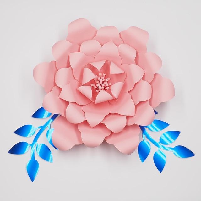 1piece Flower2pcs Leaves Giant Paper Flowers Wedding Backdrop