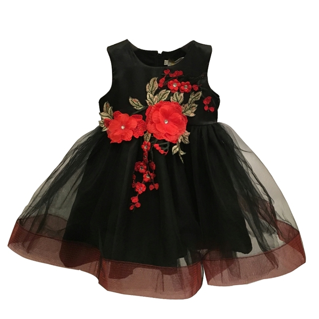Free Shipping Newborns Infant Dresses Lace 2018 New Design Red Black ...