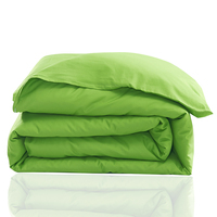 Pure Color Fruit Green Pastoral Style Polyester Fiber Bed Household Queen King Size Bed Sheet Quilt