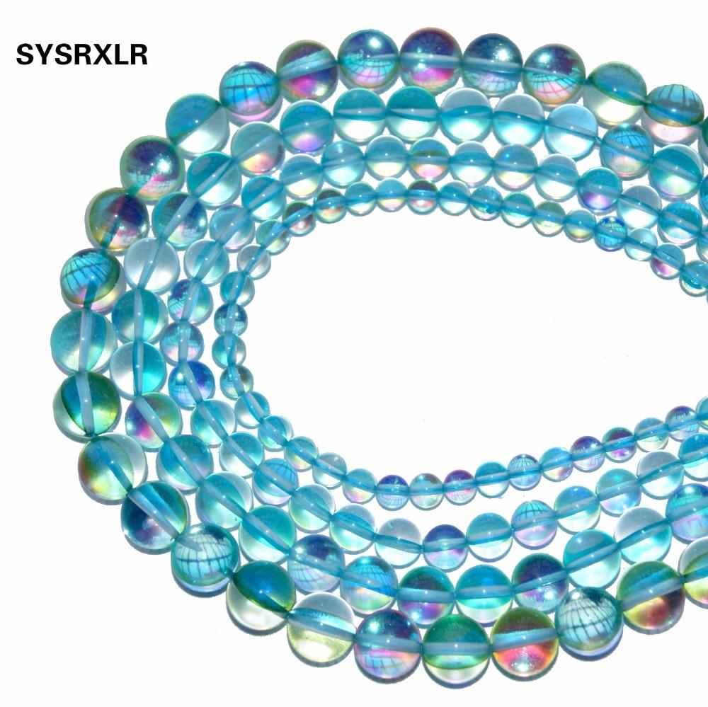 Venta al por mayor Natural Aqua Aura Blue Crystal Beads Branelli - Bisutería - foto 4