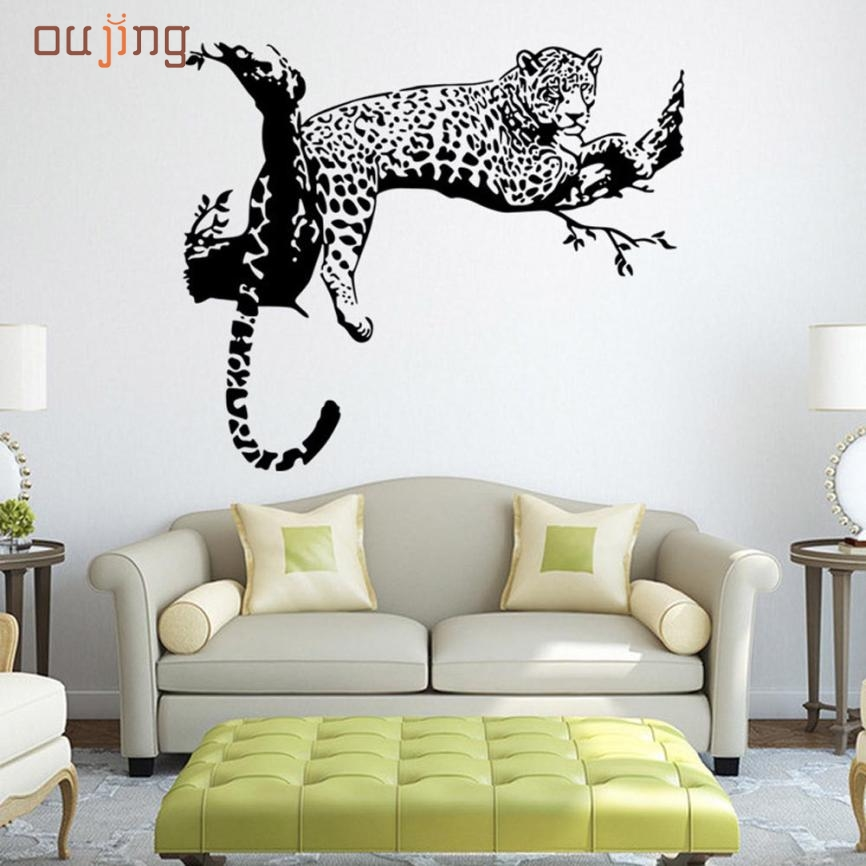 Sweet 2017 hotselling wall sticker Leopard Wall Stickers Living Room  Bedroom Decoration Removable Poster Wallpaper. Popular Leopard Bedroom Decor Buy Cheap Leopard Bedroom Decor lots