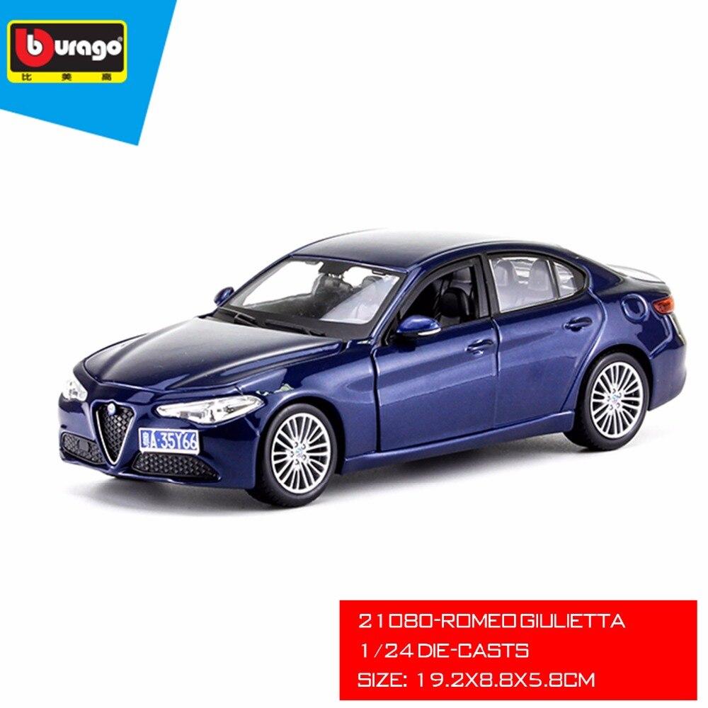 2017 NEW Romeo Giulietta Die-casts Model, 1:24 Scale Luxury Alloy Metal Model For Bburago Collection Model bburago 1 18 458 alloy supercar model favorites model