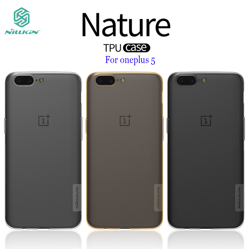 OnePlus 3T case NILLKIN Nature clear TPU Ultra Thin Case For oneplus 5 OnePlus 3T OnePlus 3 5.5 inch Soft Back cover TPU case