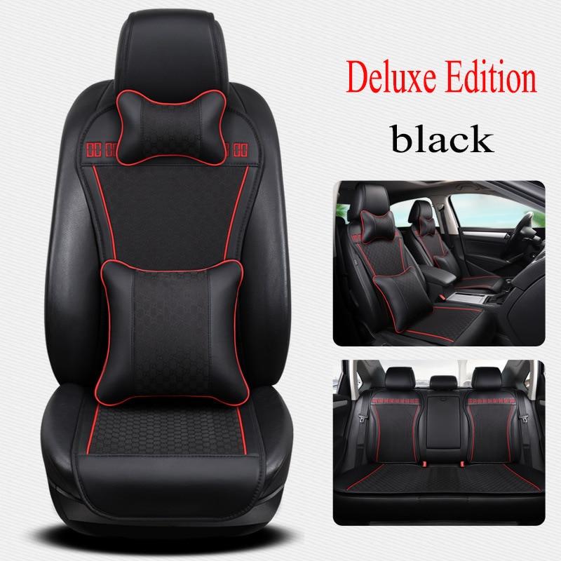 цена на Kalaisike leather Universal Car Seat covers for SEAT all model LEON Toledo Ateca exeo IBL arona car styling accessories