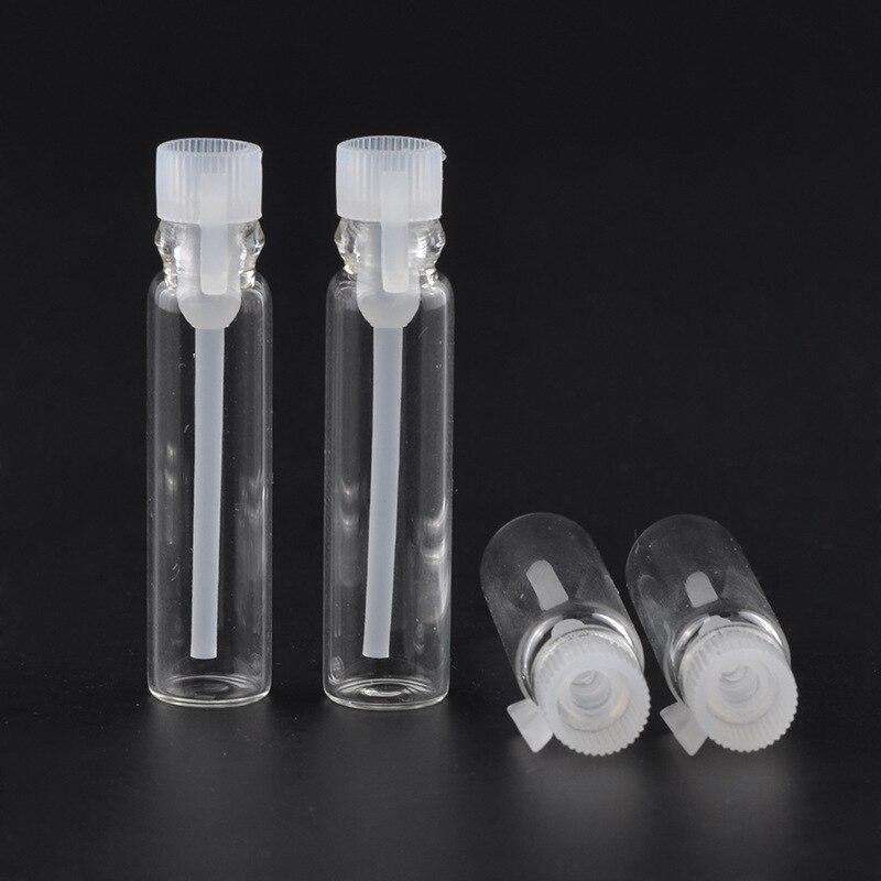 100 stücke 1/2/3 ml Leere Mini Glas Parfüm Kleine Probe Fläschchen Parfüm Flasche Labor Flüssigkeit Duft Reagenzglas Studie Flasche