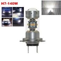 Vô cùng Tươi Sáng 1200LM 140 Wát LED Bulbs với Máy Chiếu cho Thấp Chùm Fog Lights Chạy Ban Ngày DRL Driving H7 6000 K Trắng
