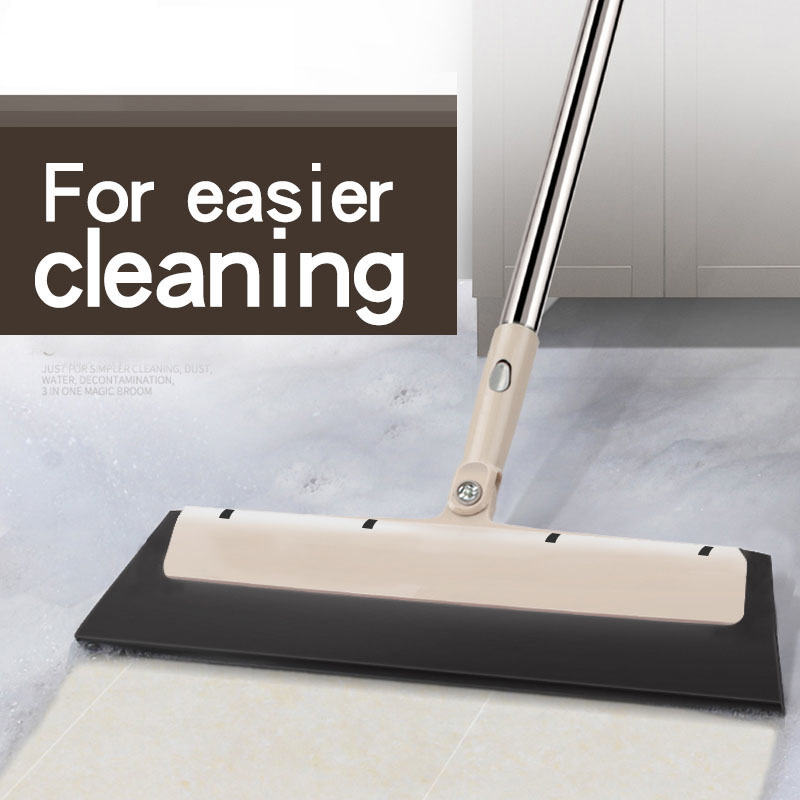 Image 5 - Bathroom special handle Rubber Mop Clean Dust Hair Bathroom Glass  Wiper Blade Cleaning Sweeper Multifunctional Kitchen Tools-in Brooms & Dustpans from Home & Garden