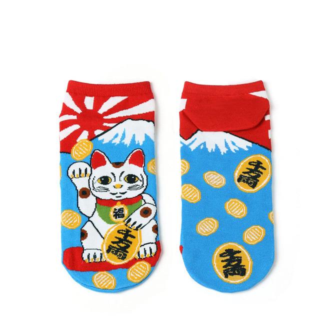 Lucky Cat Themed Socks for Women