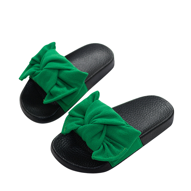 2018 kids Summer Toddler Bow Children Slide Casual Beach Sandal Baby Girl Black Mule Kid Fashion Slip On Slipper ...