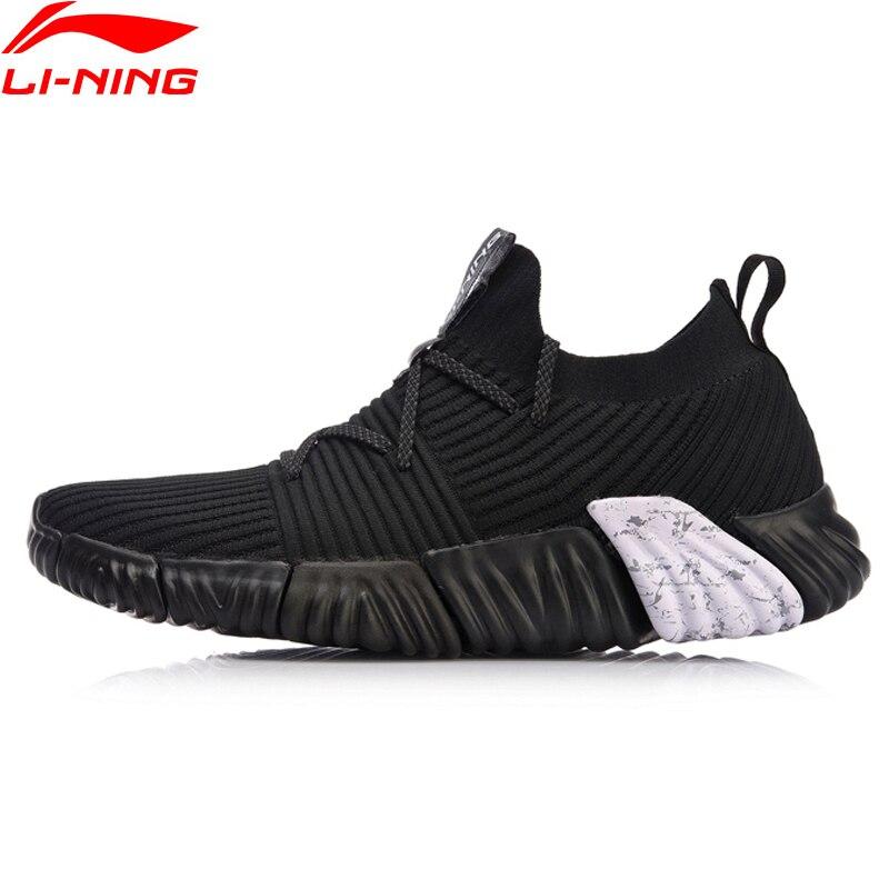 Li Ning Men RE FIT Lifestyle Shoes Mono Yarn Breathable LiNing Light Sport Shoes Sock Like