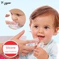 Dedo Escova de Dentes 1 Pcs Silicone Macio Seguro Crianças Bebê Dedo Escova de Dentes Protetor Goma Dente Escova Para Limpar Massagem YS060