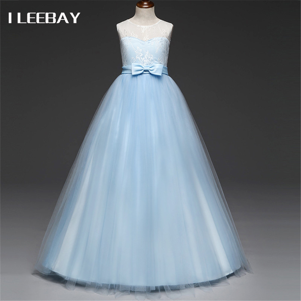 Baby Girls Evening Long Dress Kids Floral Prom Princess Clothes Robe File Infant Lace Party Dress for Weddings Children Costume children clothing girls dress brand princess dress floral design baby kids dresses for girls clothes teenager infant party wear