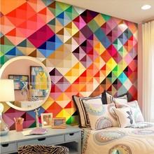 custom photo wallpaper of wall paper living room sofa bedroom TV setting wall of modern art wallpaper Color grid mural wallpaper цена 2017