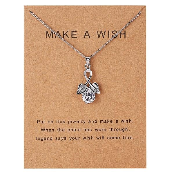 Rinhoo 7,5*10 см, подвеска в виде дельфина из бумаги с натуральным камнем в форме капли воды, геометрическая форма, ожерелье для женщин, аксессуары, подарок - Окраска металла: NC18Y0613