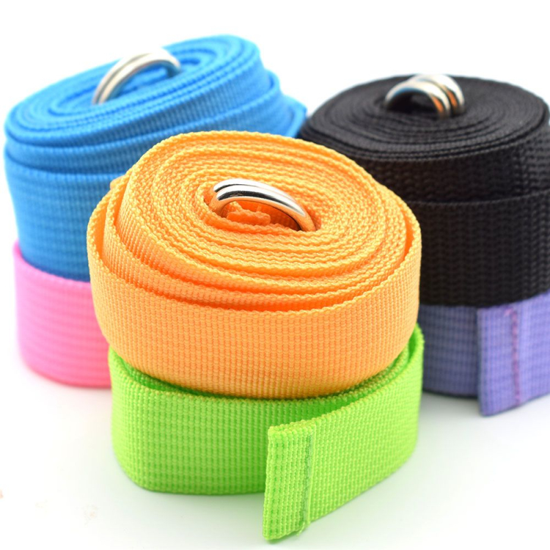 Women Yoga Stretch Strap Multi-Colors D-Ring Belt Fitness Exercise Gym Rope Figure Waist Leg Resistance Fitness Bands Yoga B-2