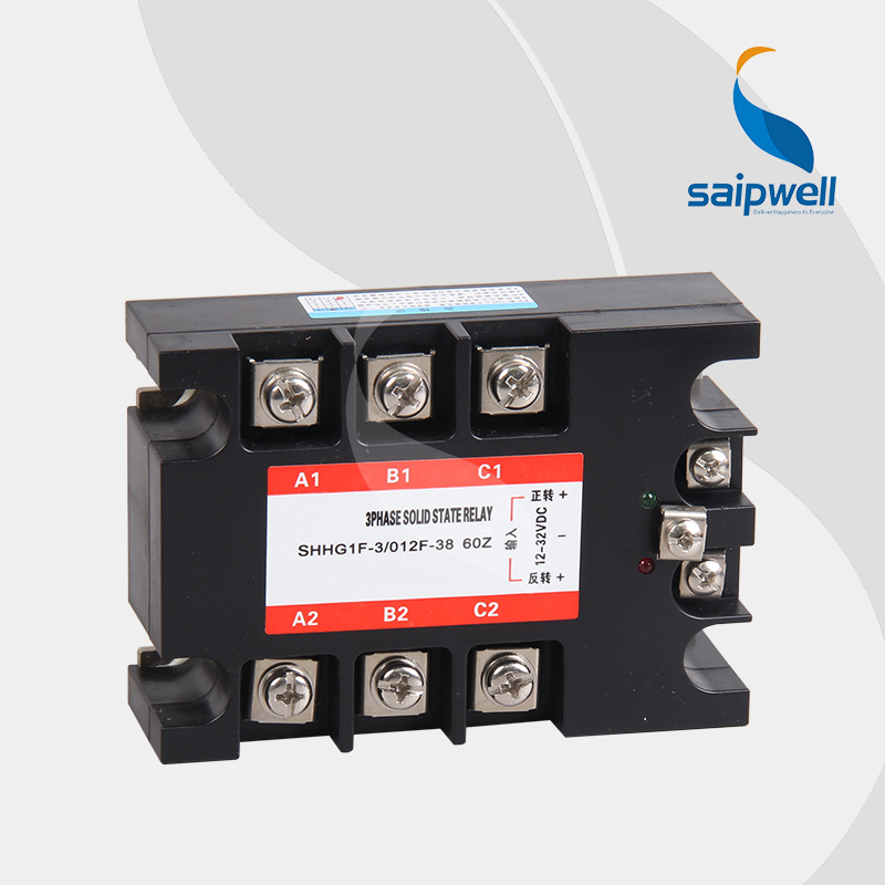 High Quality 60A Positive and Negative Turn Solid State Relay SSR -DA /Three-phase Solid State Relay (SHG1F-3/012F-38 60A) three phase solid state relay tsr 60da 60a ssr relay