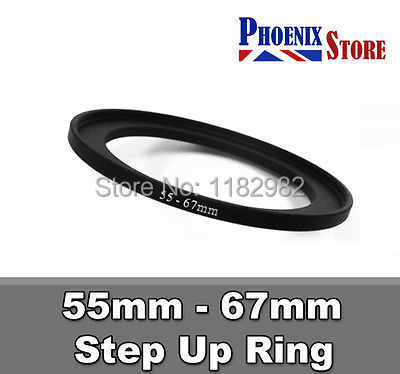 55mm to 67mm 55-67 Stepping Step Up Filter Ring Adapter 55-67mm 55mm-67mm
