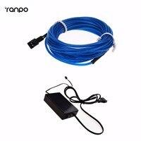 100M El Wire Flexible Neon LED Bulb Lamp Light Novelty Tube Rope Lighting + EU Controller 220V