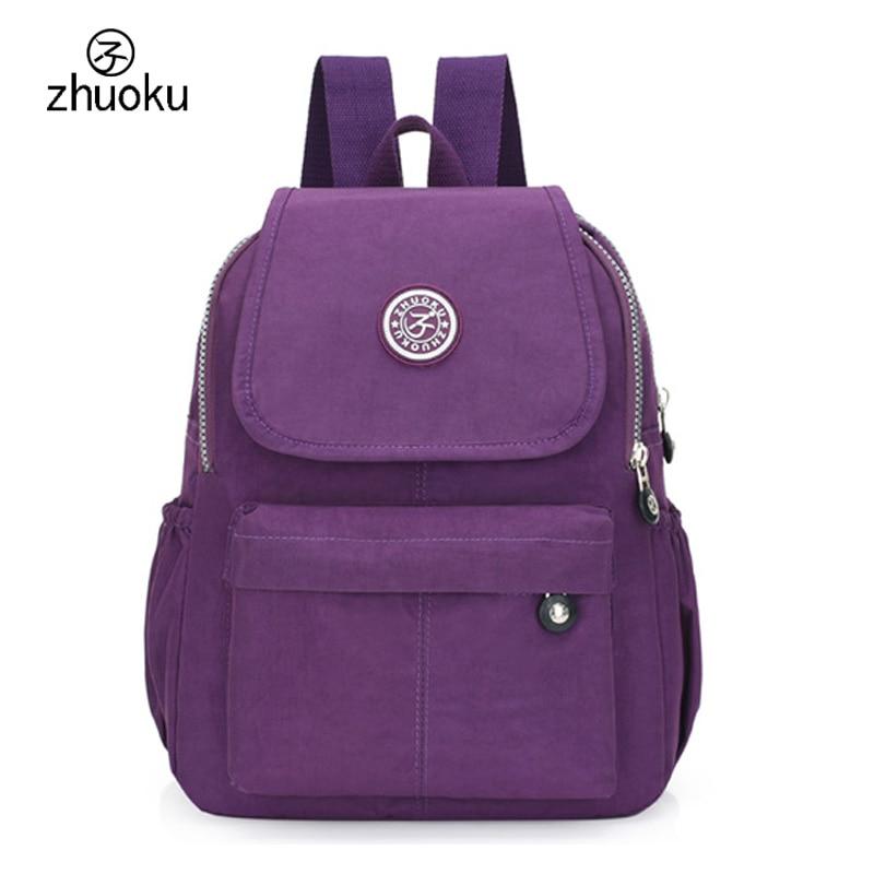 купить women backpack Black mini backpack teens girl school bags good quality double shoulder Beach bag 2017 Famous brand design ZK603 по цене 848.32 рублей