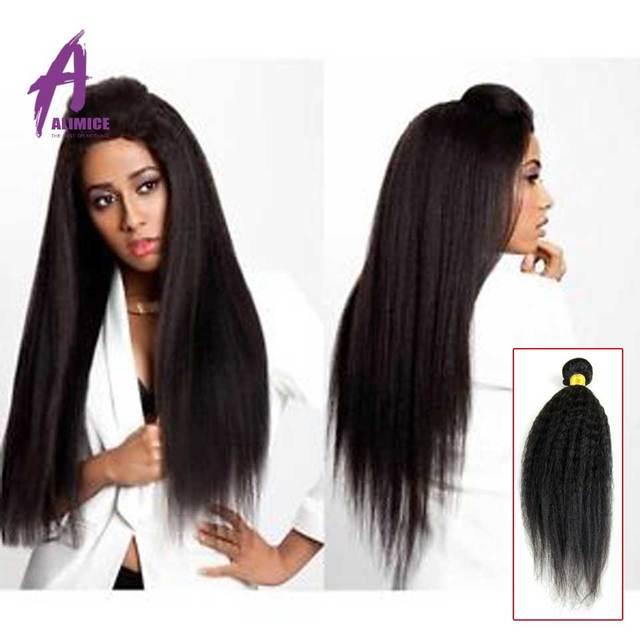 8a Grade Brazilian Kinky Straight Virgin Human Hair Bulk 3pcslot