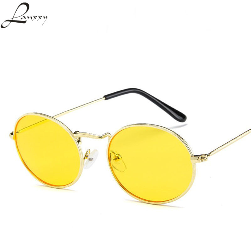 Lanxxy New Trendy Cool Metal Round Sunglasses Women Men Vintage Sun Glasses Female Unisex Sunglass